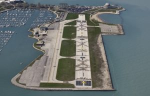 Meigs Field after Demolition Dick's midnight raid on April 3, 2003. Photo Credit - Precision Aerial Photography