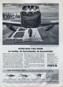 An old Piper Aircraft ad featuring Meigs in the background. Someone knew that value of Chicago's Gem on the Lakefront.